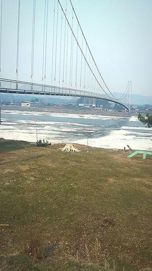 шаманка подвесной мост река во льду Весна💐🌷🌿 скоролето начало лета 2017