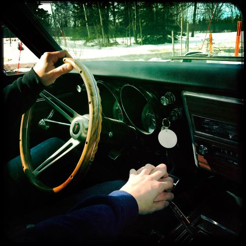 EyeEm Selects Pontiac Human Hand Transportation Human Body Part Steering Wheel Driving Car Dashboard Mode Of Transport One Person Car Interior Journey Speedometer Men Technology One Man Only Indoors  Control Panel Close-up Day People Alaska Love My Life  Marilyn