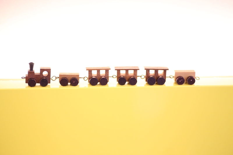 Close-up No People Studio Shot Toy Toy Train White Background Wooden Toy Wooden Train