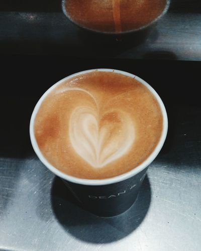 Warm fuzzy heart❤ Taking Photos Check This Out Delicious Drink Latteart Delicious Coffee Work Flow