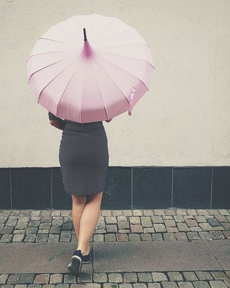Pink pink. Streetphotography Pink Pin Up Retro Edwardian Parasol Girl Sweden Gothenburg 50s Polkadots