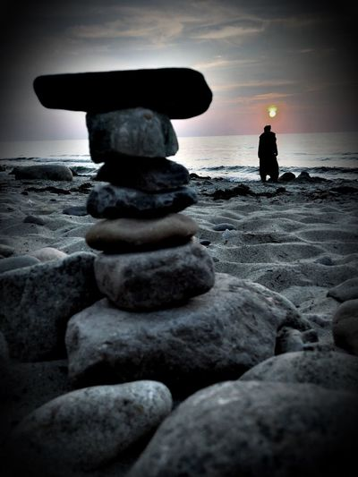 Mystic World Of Nature Rerik Mecklenburg-Vorpommern Landkreis Rostock Ostseeküste Water Sea Beach Land Sky Horizon Over Water Rock Tranquility Stone - Object Stack Motion Beauty In Nature Rock - Object Solid Nature Tranquil Scene Real People Outdoors Horizon Scenics - Nature