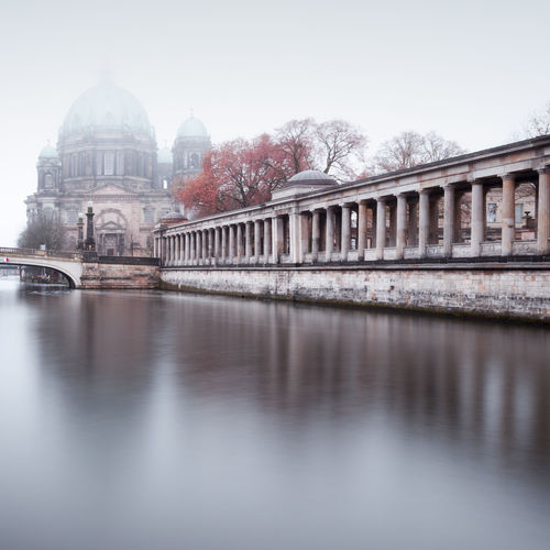 Berlin Cathedral during a foggy morning in autumn Architecture Autumn Mood Berlin Cathedral Berlin City Berlin Travel Berliner Dom Bridge - Man Made Structure Building Exterior Built Structure City Cityscape Day Dome Fineart International Landmark Longexposure No People Outdoors Philipp Dase Reflection Spree River Berlin Travel Destination Travel Destinations Urban Icon Discover Berlin