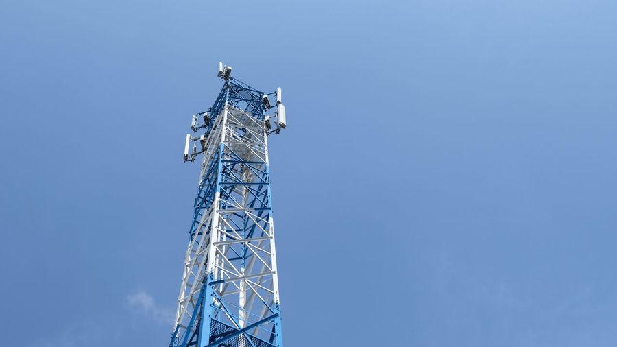 Telephone Tower Television Aerial Satellite Dish Satellite Radio Wave Broadcasting Tall - High Antenna Satellite View