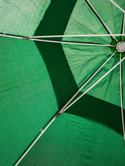 Full frame shot of green umbrella