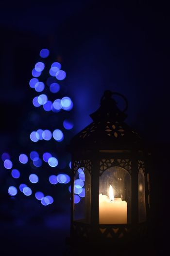 Illuminated Night Candle Burning Lighting Equipment Fire Glowing