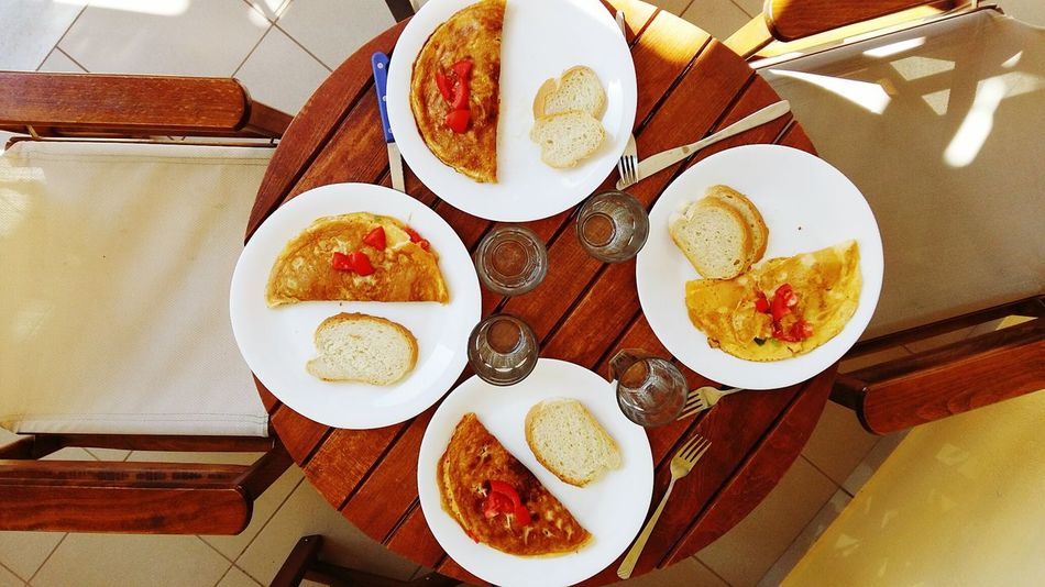 Breakfast Food Omelette Eggs, Colorful Healthy Healthy Eating Tomato Table Table Setting