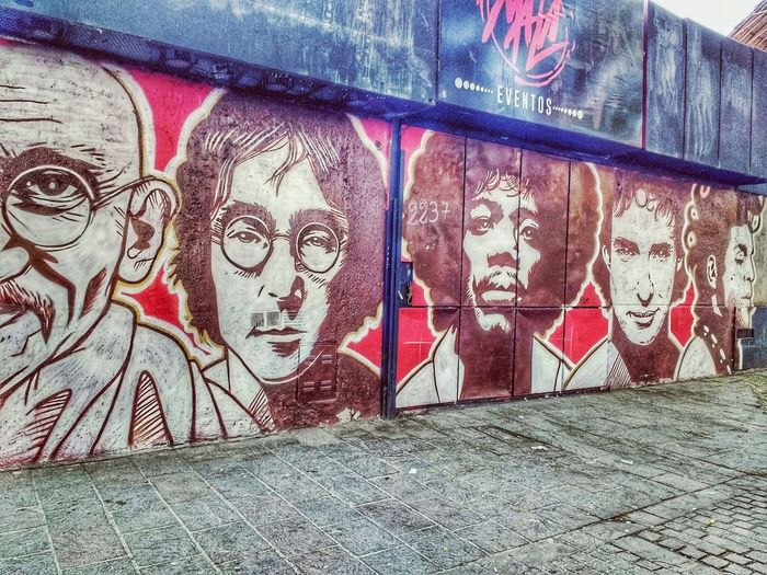 Graffiti Art And Craft Creativity Spray Paint Lennon Lennon Wall Cerati Gustavo Cerati Prince  Jimi Hendrix Hendrix Gandhi John Lennon Rock Rock And Roll Street Art Argentina Mural Mural Art MuralismoUrbano