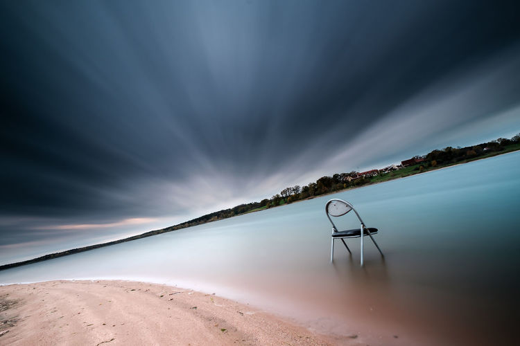 Take a seat. 😉 Day Tranquility Landscape Outdoors Lake No People Water Sky Nature Long Exposure Taking Photos Scenics Cloud - Sky Horizon Lost Lake View Beach Beauty In Nature