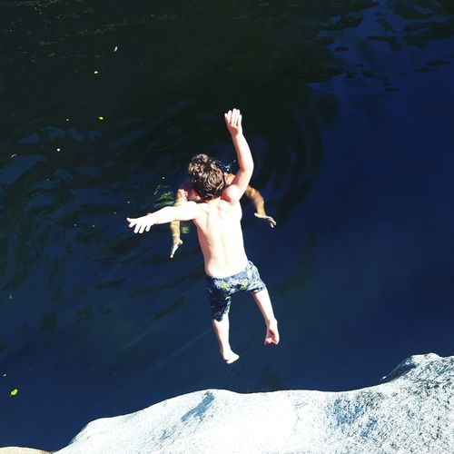 Adventure Club Cliff Diving River Time No Fear Daddy Got You Free Falling Jumping Childhood