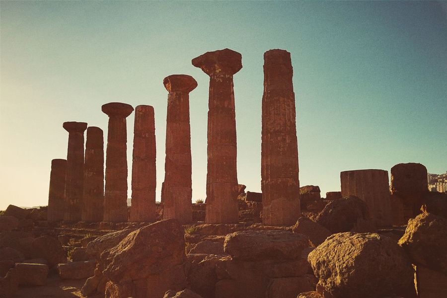 Agrigento Ancient Ancient Civilization Architecture Broken Built Structure Day Famous Place History Memories Sky Stone Material Tall - High The Past Tourism Valle Dei Templi