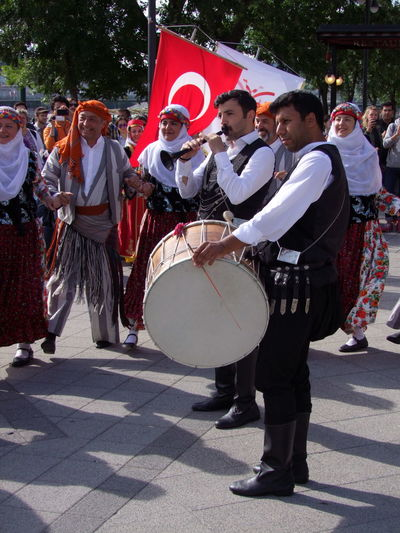 Turkish Musicians Budapest Composition Fun Hungary Tourist Attraction  Turkish Musicians Arts Culture And Entertainment Capital City Celebration Drum - Percussion Instrument Drummer Festival Flag Full Frame Marching Band Music Musical Instruments Musicians Outdoor Photography Parade Performance Sunlight And Shadows Togetherness Traditional Costumes Travel Destination