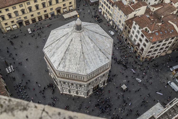 The baptistery view from above