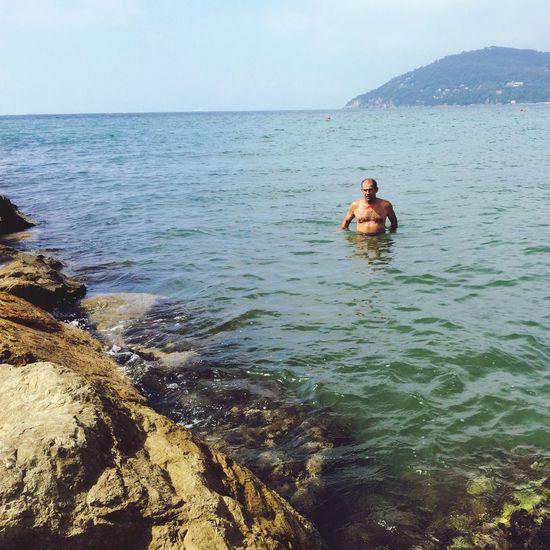 Father Love Sea Enjoying Life