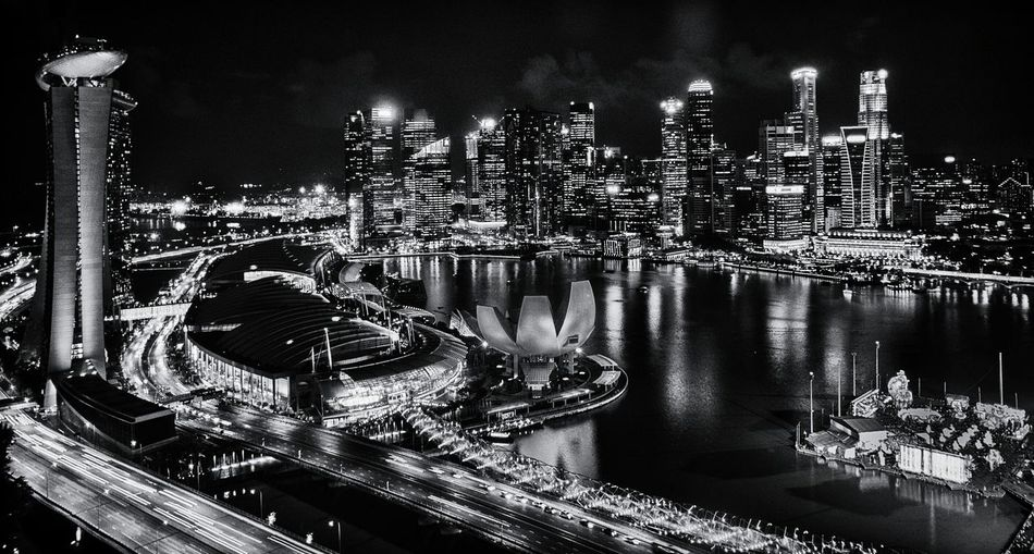 Singapore at night from the Singapore Flyer, Black And White Photography, Landscape, City Lights , Eyeem Singapore, Taking Pictures, Enjoying The View Cityscapes EyeEmNewHere