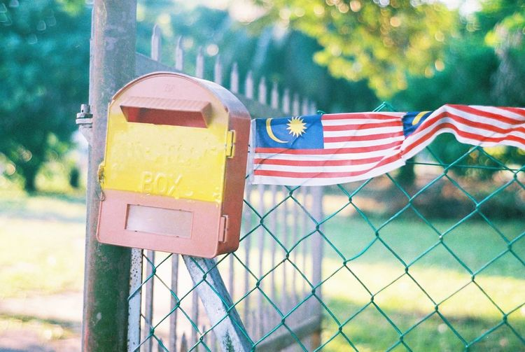 Happy Independent Day Malaysia!!! Malaysia Independence Malaysian Flag Flag Patriotism Protection Close-up Sky Fence