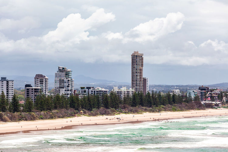Cityscape Coastline Landscape Queensland Sky Skyline Architecture Australia Australian Beach Beautiful Blue Burleigh Burleigh Heads City Clouds Coast Gold Coast High Rise Holiday Nature Ocean Outdoor Scenic Sea Skyscrapers Surfers Paradise Travel Tropical Vacation View Water Waves