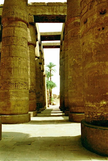 Karnak Hypostyle Hall Hypostyle Hall, Hall, Green Ancient Civilization Arch Architecture Building Exterior Built Structure Column Creativity Egypt Famous Place Historic History Karnak Low Angle View Luxor Monument Old Religion Ruined Sculpture