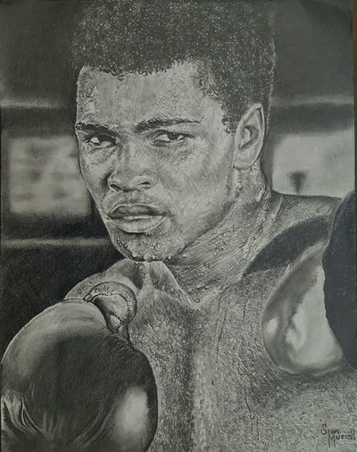 ....Imma show you how great I am.....im back guys and gals Blackandwhite ArtWork Sketch Pencil Drawing Myartwork Liveforever MuhammadAli CassiusClay Boxing Float Like A Butterfly Sting Like A Bee