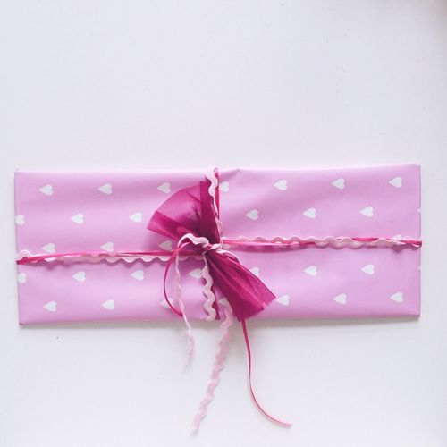 Gift wrapped in pink paper