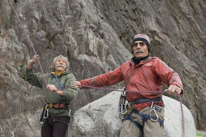 Old But Awesome Henry is 85, Jean is 81. They have been sharing their passion for climbing for the last 60 years. Now Henry is really ill, I really hope he is still alive, and... I don't know, I would love to see them together, climbing as they did always. Life is short, but they lived well. I meet them in Chamonix, and we climbed together. Heroes Legends Climbing Climbingforever Foreveryoung