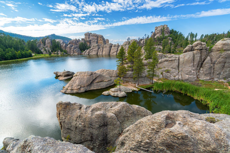 Beautiful Sylvan Lake in Custer State Park Beauty In Nature Black Hills Custer State Park Day Lake Landscape Nature No People Outdoors Park Rock - Object Rock Formation Scenics Sky South Dakota Sylvan Lake Tourism Tranquil Scene Travel Travel Destinations USA Water