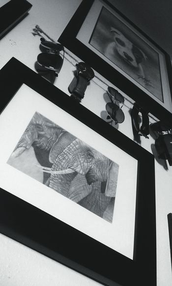 Thought I'd bring my artwork and photography together!! 📷✏❤❤ Indoors  Angles Blackandwhite Photography Personal Perspective My Artwork Graphite Drawing Love Photography Love Art