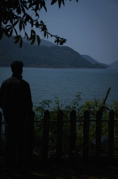 Silhouette Water One Person One Man Only People Sky Nature Scenics Lakeview Alonetime Alone In The Dark Favorite Places