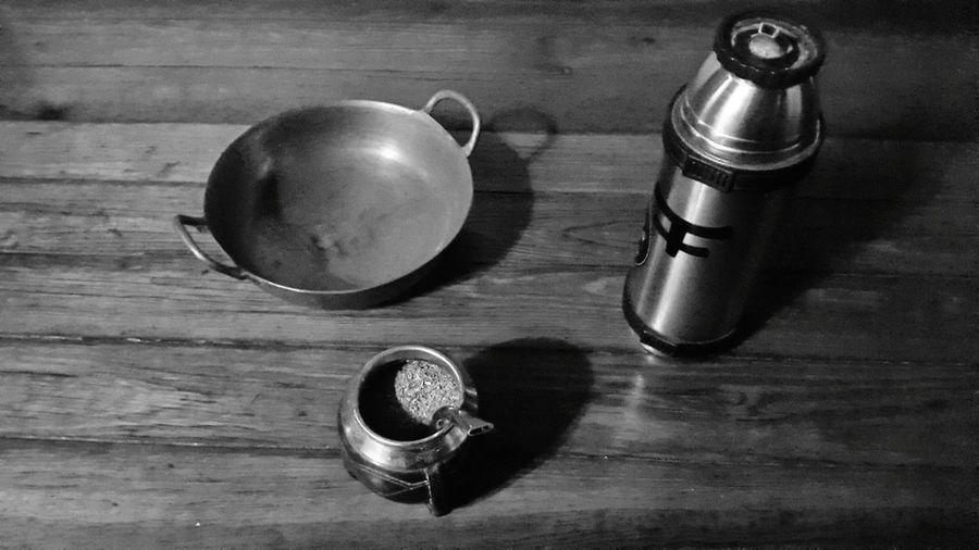 Uruguay natural Black And White Collection  Uruguayandrink Uruguayan Culture UruguayanMate Uruguayan Breakfast Table Indoors  Wood - Material High Angle View No People Day Close-up Uruguay