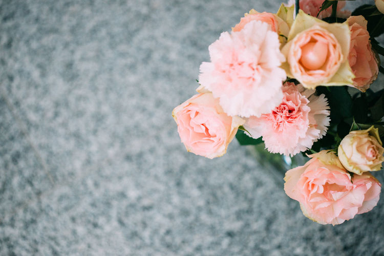 Peach coloured flowers ( carnations and roses) in a vase. Beauty In Nature Blooming Carnation Close-up Decoration Detail Deutschland Flower Flower Head Flowers Fragility Freshness Growth In Bloom München Nature Peach Color Petal Pink Color Plant Romance Rose - Flower Rosé Simplicity Soft