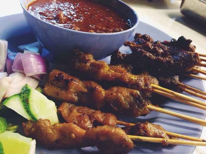 beef and chicken satay baby!