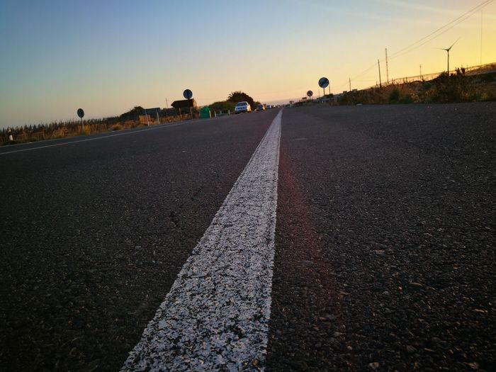 Drivingshot Roadside Shots Clear Sky No People Cardriving Landscape HuaweiP9 Las Palmas De Gran Canaria The Way Forward Road Outdoors Sunset Sky Only Men Adults Only People Men Adult Day