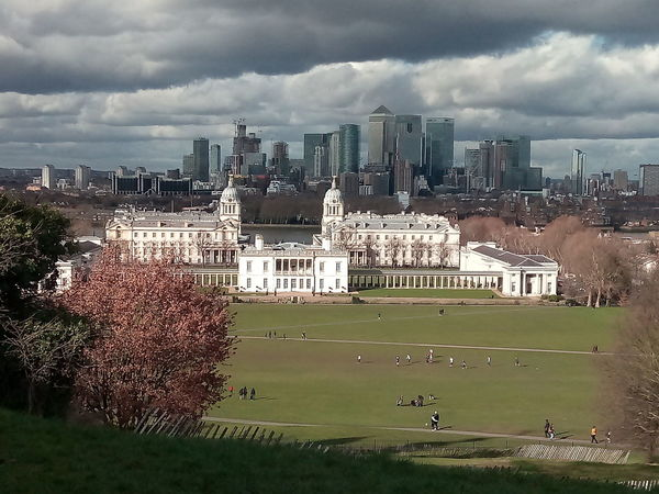 National Maritime Museum Queens House Naval Museum Buildings London Skyline Skyline Greenwich Greenwich Park London Grey Clouds Views Green Space Urban Skyline Skyscraper Cityscape Cloud - Sky Architecture Downtown District Building Exterior Built Structure City Outdoors Sky Day Tree Grass Nature