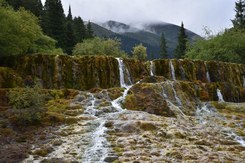 Beautiful Beautiful Nature China Photos Huanglong Natural Park Mountains National Park Nature Water Waterfall Yellow