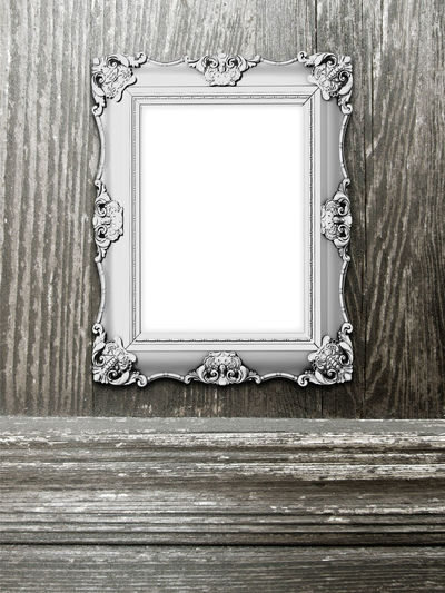 One baroque frame on brown wooden board background ArtWork Baroque Blank Decorated Frame Display Empty EyeEm Gallery Frame Image Photo Photography Picture Portfolio Presentation Print Product Photography Product Placement Set Shades Of Grey Stockphotography Styled Template Timber White Wooden Board Background