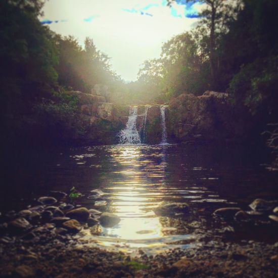 Mullinavat Falls Outdoors Mullinvat Falls Mini Waterfall Sunbeam Tranquility Flowing Water