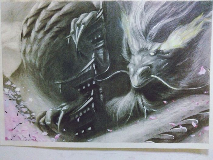 Latest Drawing Dragon Cool My Drawing (: Love ♥ Concentrate On Drawing Check This Out