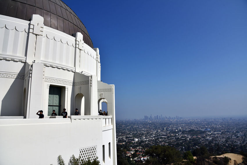 Griffith Observatory in Los Angeles, California Cityscape Griffith Observatory Los Angeles, California Architecture Built Structure City Day Overlook
