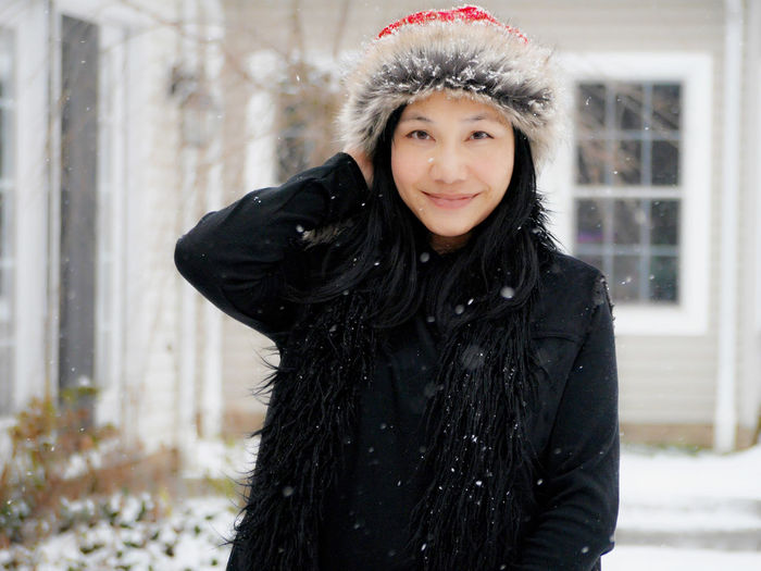 Self portrait Grace Chung Adult Adults Only Cold Temperature Day Focus On Foreground Front View Happiness Lifestyles Looking At Camera Nature One Person Outdoors People Portrait Real People Smiling Snow Snowflake Snowing Warm Clothing Weather Winter Young Adult Young Women