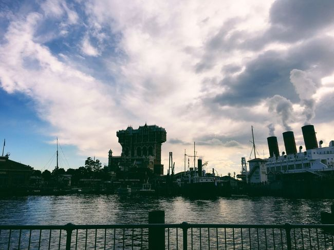 Sky Building Exterior Architecture Cloud - Sky Water Built Structure Outdoors City No People River Waterfront Nautical Vessel Travel Destinations Day Nature Cityscape DisneySea Tokyo Disney Sea Disney Theme Park Vscogood Vscocam VSCO Japan Japanese