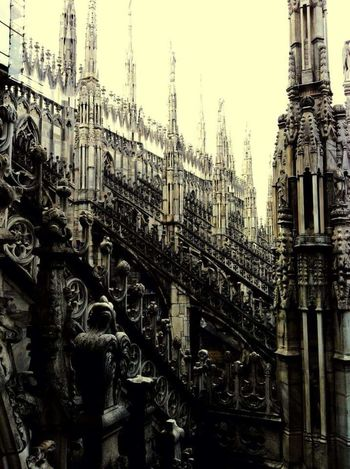 Extreme Weather City Italy🇮🇹 Milano Duomo Gothic Churches Gothic Church Duomo Milan Contrast Contrast/exposure Cathedral