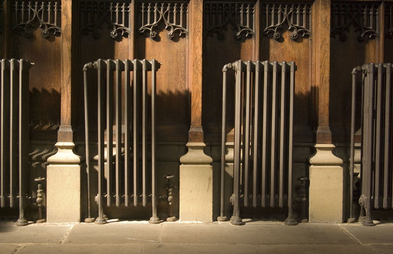 Historic radiators in cathedral, All The Same, Cenral Heating, Churh, Cathedral, Duplicte, Historic, History In A Line In A Row, Side By Side, Pipes,