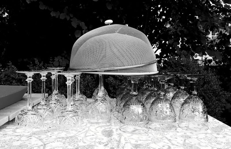 Garden life Equipment Gardenparty Garden Meal Romantic Place Cristalglass Garden Party Blackandwhite Atmospheric Mood Close-up Still Life Backgrounds Pattern, Texture, Shape And Form Structures Material Mix Shadows & Lights EyeEm Best Shots EyeEm Nature Lover EyeEm Best Shots - Black + White EyeEm Selects Full Frame Prepared Food