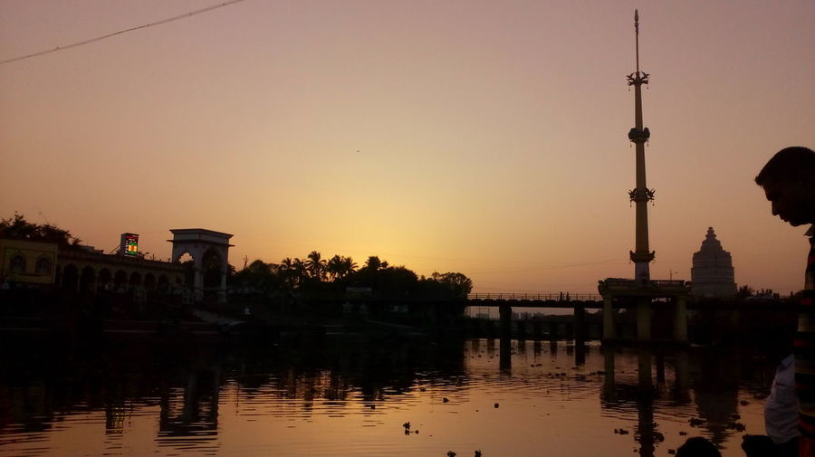 Sunset Riverside indrayani at alandi pune Reflection Sunset Water Travel Sky City Architecture No People Bridge - Man Made Structure Outdoors Hello World Natural Beauty Nature Photography Nature_perfection Natural Pattern Sunrise N Sunsets Worldwide  Nature_ Collection  Sunrise N Sunsets Worldwide  Evening Sky Natural Light Dramatic Sky Sunset_collection Evening View Capture The Moment Evening Sunset