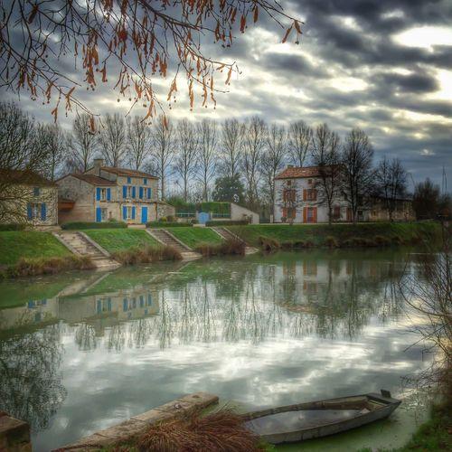 River Reflection Water Reflections Maraispoitevin