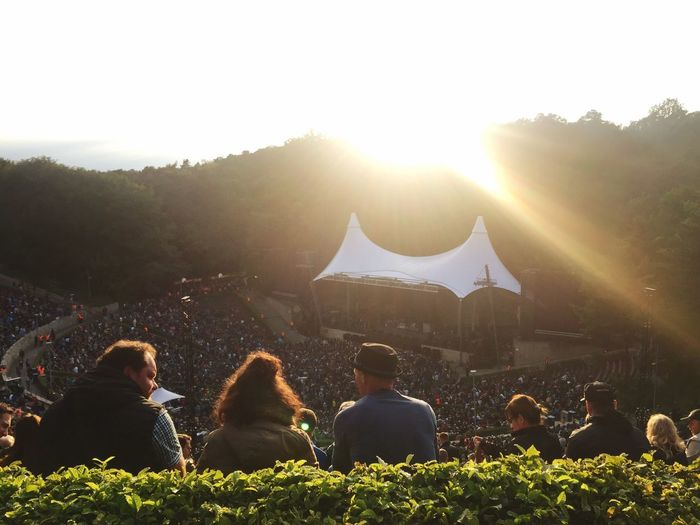 Real People Lens Flare Lifestyles Sunlight Sunbeam Togetherness Leisure Activity Sun Men Women Outdoors Day Concert Music Large Group Of People Young Women Bonding Nature Tree Sitting #FREIHEITBERLIN