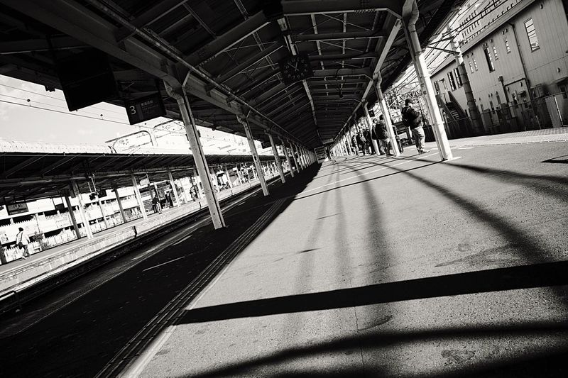 Station Platform Station Shadow Sunlight Transportation Built Structure Architecture No People Nature Connection The Way Forward City Diminishing Perspective