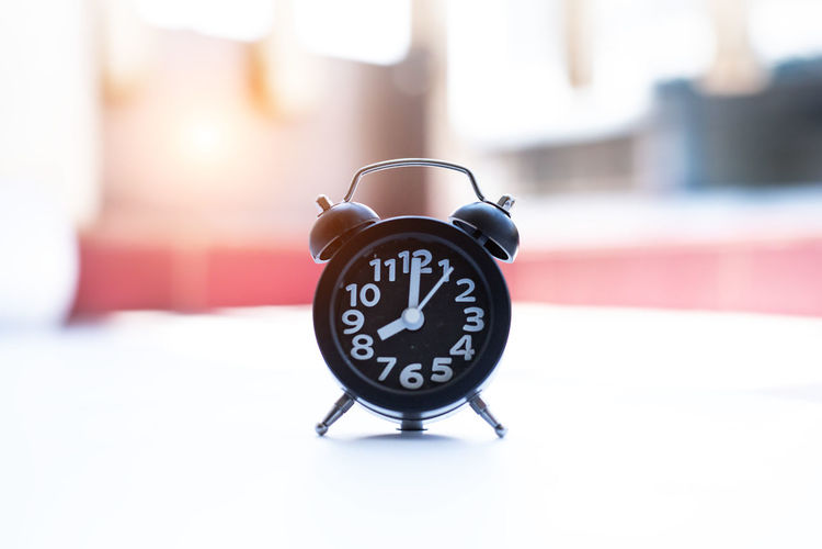 Close-up of alarm clock