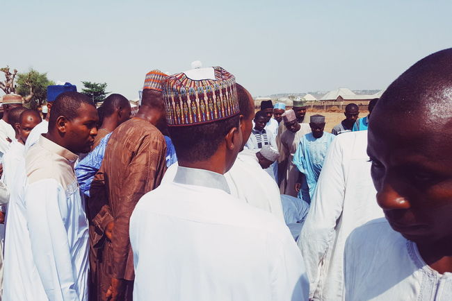 Muslim burial rites Transitional Moments Northern Nigeria Africa Day To Day Men People Togetherness