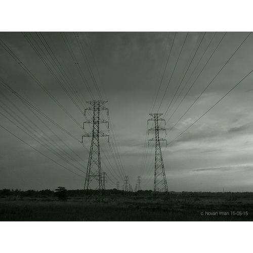 Simple Luxury Tower Power Lines Mataponsel Zenphone Photography